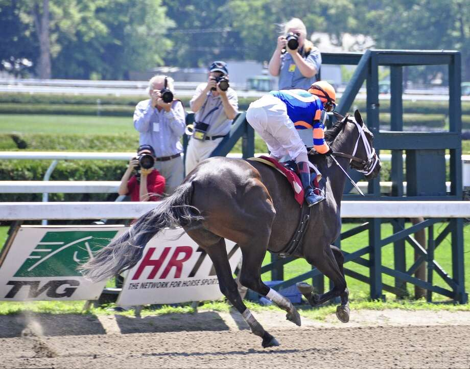 The photographers were all over this first time starter by Tale of the Cat, who is trained by Todd Pletcher for Mike Repole. Fleetphoto (George Zilberman)