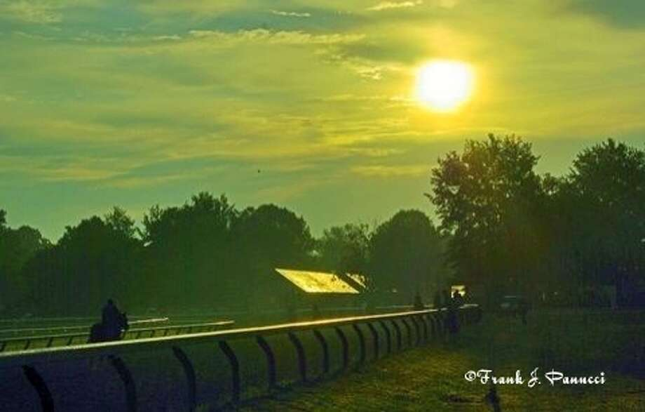 Picture taken at the Saratoga training track. (Frank Panucci) Photo: Picasa