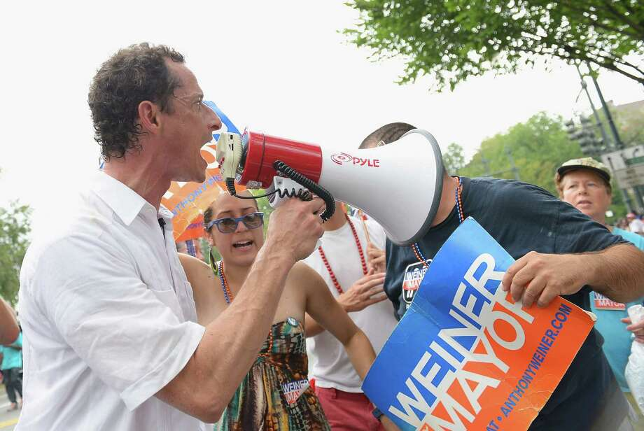 Mayoral candidate Anthony Weiner campaigns at the West Indian Day Parade on Sept. 2, 2013 in Brooklyn, N.Y. Photo: Michael Loccisano, Getty Images / 2013 Getty Images