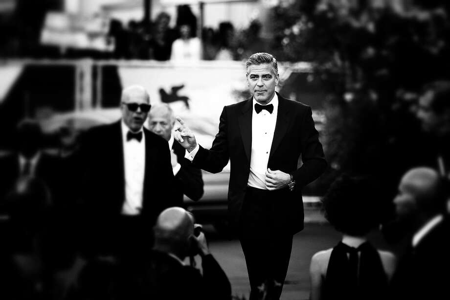 Actor George Clooney as he attends the Opening Ceremony And 'Gravity' Premiere during the 70th Venice International Film Festival at the Palazzo del Cinema on August 28, 2013 in Venice, Italy. Photo: Andreas Rentz, Getty Images / 2013 Getty Images