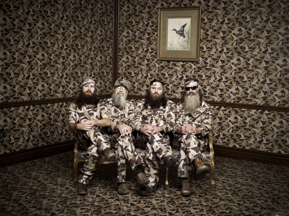 `Duck Dynasty' stars Phil, Jase, Willie and Si Robertson turned their duck-call business into a smash hit on A&E. Photo: Art Streiber