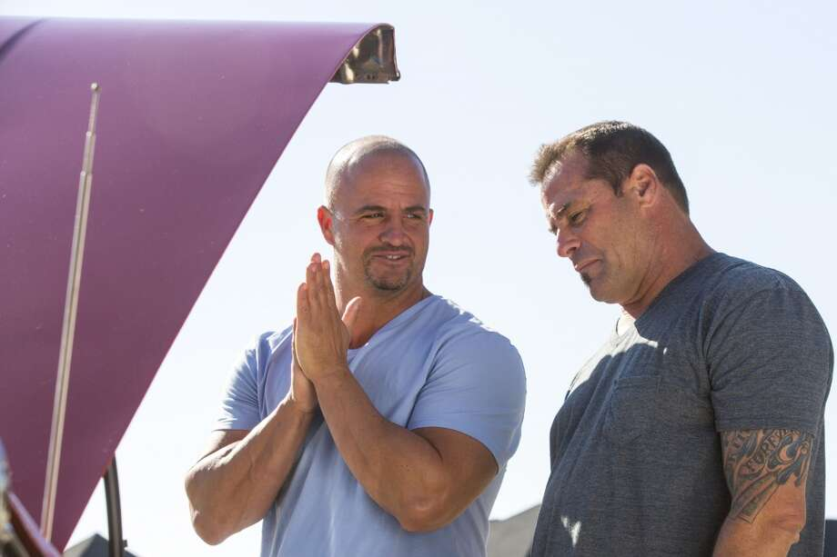 Steve McHugh, left, and Antonio Palazzola are the stars of `Barter Kings' on A&E.