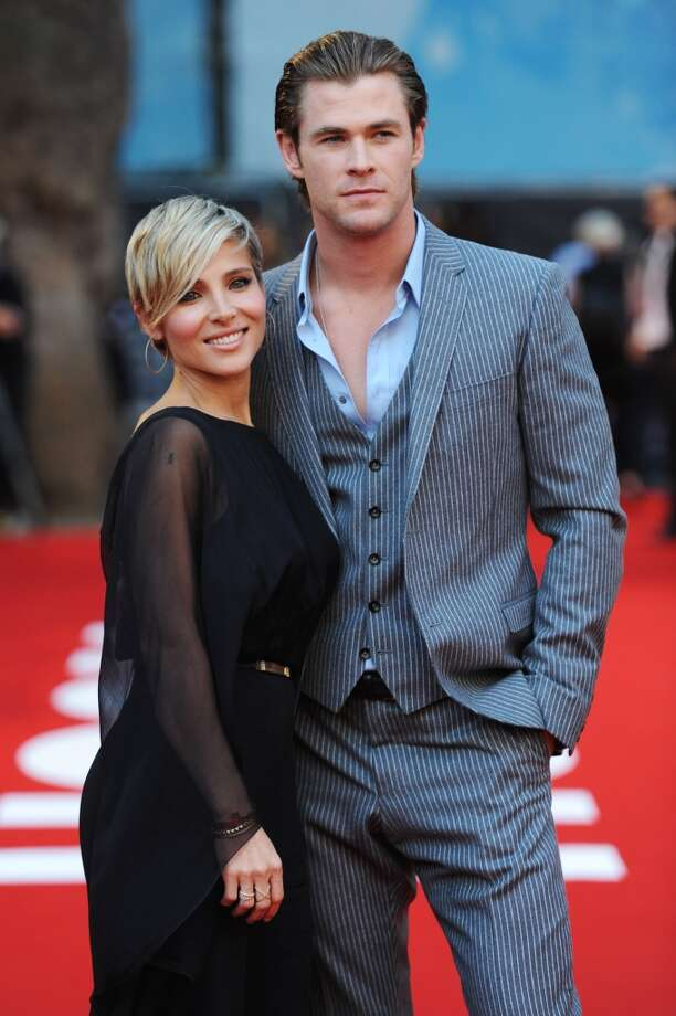 "Chris Hemsworth and Elsa Pataky attend the ""Rush"" world premiere at The Odeon Leicester Square on September 2, 2013 in London, England.  (Photo by Dave J Hogan/Getty Images) Photo: Dave J Hogan, Getty Images"