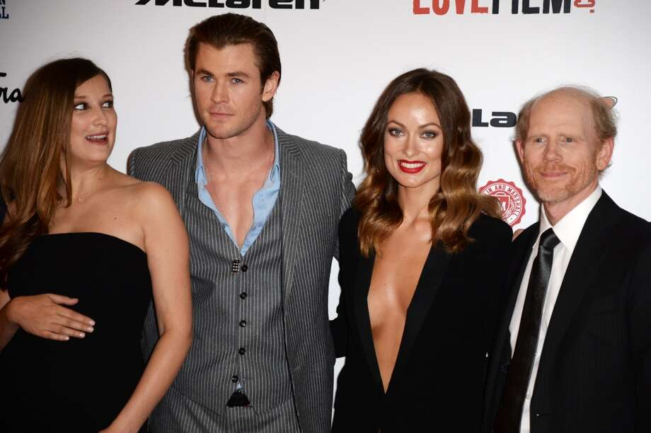 "(L-R) Alexandra Maria Lara, Chris Hemsworth, Olivia Wilde and Ron Howard attend the ""Rush"" world premiere at The Odeon Leicester Square on September 2, 2013 in London, England.  (Photo by Dave J Hogan/Getty Images) Photo: Dave J Hogan, Getty Images"