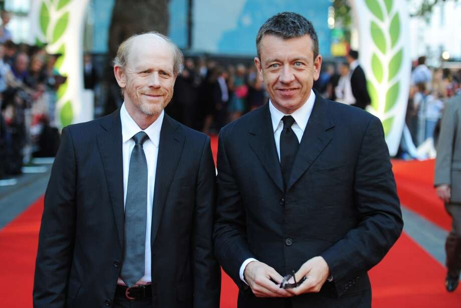 "(L-R) Ron Howard and Peter Morgan attend the ""Rush"" world premiere at The Odeon Leicester Square on September 2, 2013 in London, England. (Photo by Dave J Hogan/Getty Images) Photo: Dave J Hogan, Getty Images"