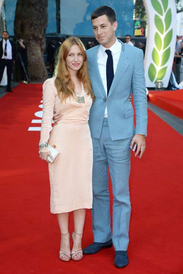 "Josephine de la Baume and Mark Ronson attend the ""Rush"" world premiere at The Odeon Leicester Square on September 2, 2013 in London, England.  (Photo by Dave J Hogan/Getty Images) Photo: Dave J Hogan, Getty Images"