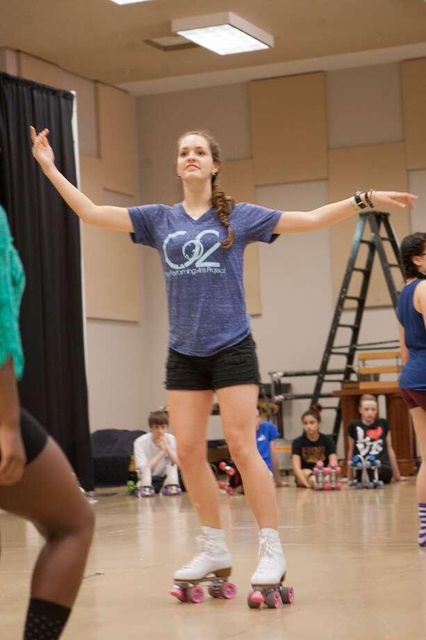 """Emma Center's role in """"Xanadu"""" keeps her in motion. Photo: R. Clayton McKee, Freelance / ©2013 R. Clayton McKee"""