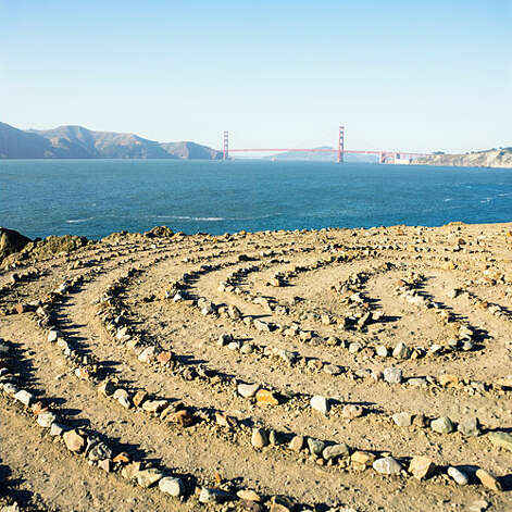 Lost in the labyrinth, San Francisco You can find serenity walking the elegant labyrinth off San Francisco's Land's End Trail.   Photo: Thomas J. Story, Sunset.com / ©Thomas J. Story/Sunset Publishing
