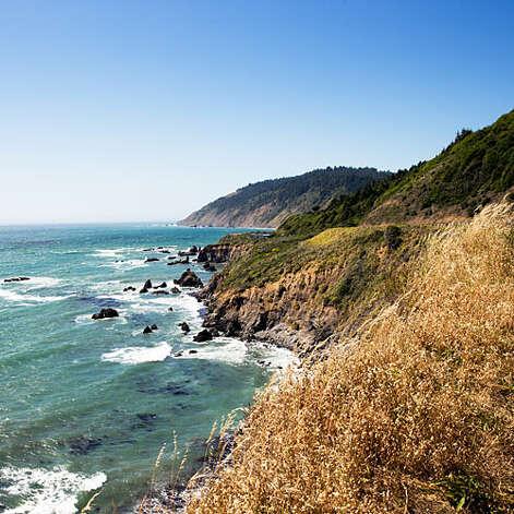 Legendary beauty, Sonoma Coast Highway 1 clings to the bluffs along a northern stretch of the Sonoma Coast.   Photo: Thomas J. Story, Sunset.com / ©Thomas J. Story/Sunset Publishing