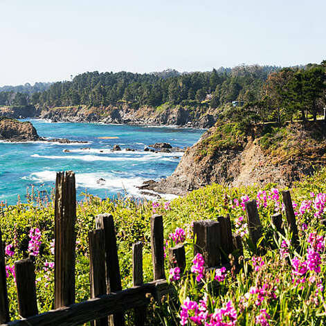 Paradise found, Mendocino County Blooms and views grace the Mendocino Coast.   Photo: Thomas J. Story, Sunset.com / ©Thomas J. Story/Sunset Publishing