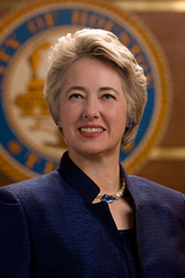 Houston Mayor Annise Parker spoke at the Clear Lake Area Chamber of Commerce luncheon. Photo: Courtesy Of The Clear Lake Area Chamber Of Commerce