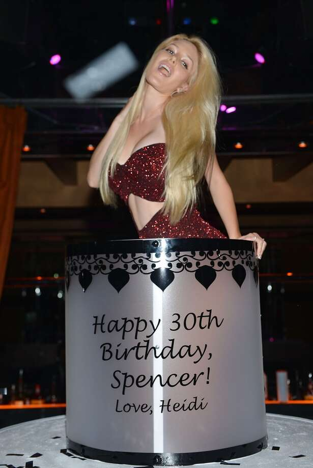 Heidi Montag celebrates Spencer Pratt's 30th birthday at Crazy Horse III on August 31, 2013 in Las Vegas, Nevada.  (Photo by Denise Truscello/WireImage) Photo: Denise Truscello, WireImage