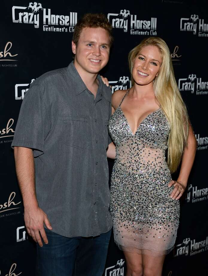 Television personalities Spencer Pratt (L) and Heidi Montag arrive at the Crazy Horse III Gentlemen's Club to celebrate Pratt's 30th birthday on August 31, 2013 in Las Vegas, Nevada.  (Photo by Ethan Miller/Getty Images) Photo: Ethan Miller, Getty Images