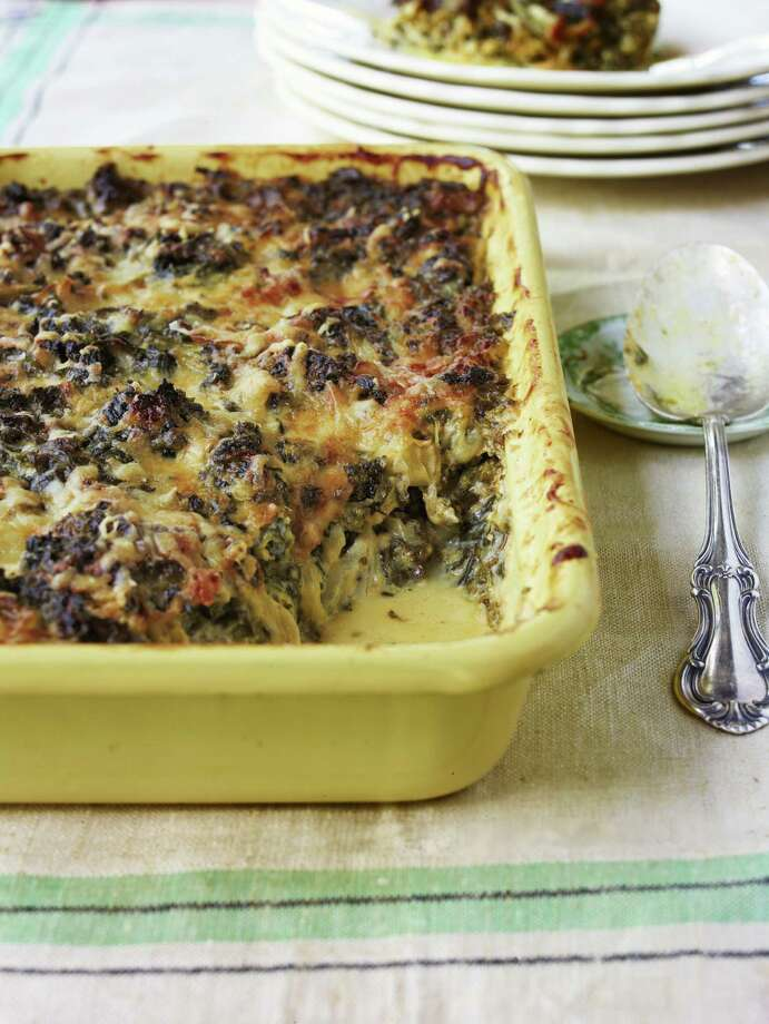 Country Living recipe for Creamed Kale Gratin. Photo: John Kernick