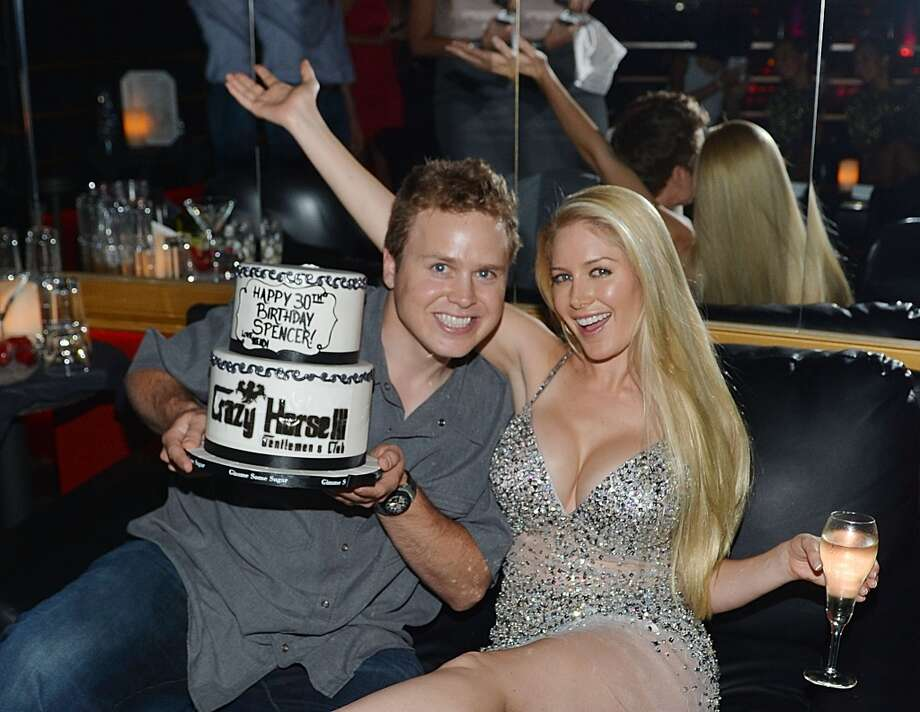 Spencer Pratt and Heidi Montag celebrate Spencer Pratt's 30th birthday at Crazy Horse III on August 31, 2013 in Las Vegas, Nevada.  (Photo by Denise Truscello/WireImage) Photo: Denise Truscello, WireImage