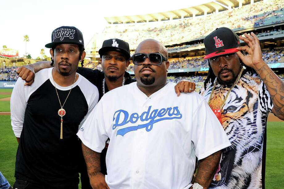 The reunited CeeLo Green and the Goodie Mob attend a  Los Angeles Dodgers game in San Francisco last month. Photo: Noel Vasquez / Getty Images