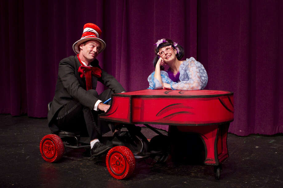 "Dylan Collins and Becky King appear in ""Seussical"" at Magik Theatre. Photo: Courtesy David Frank"