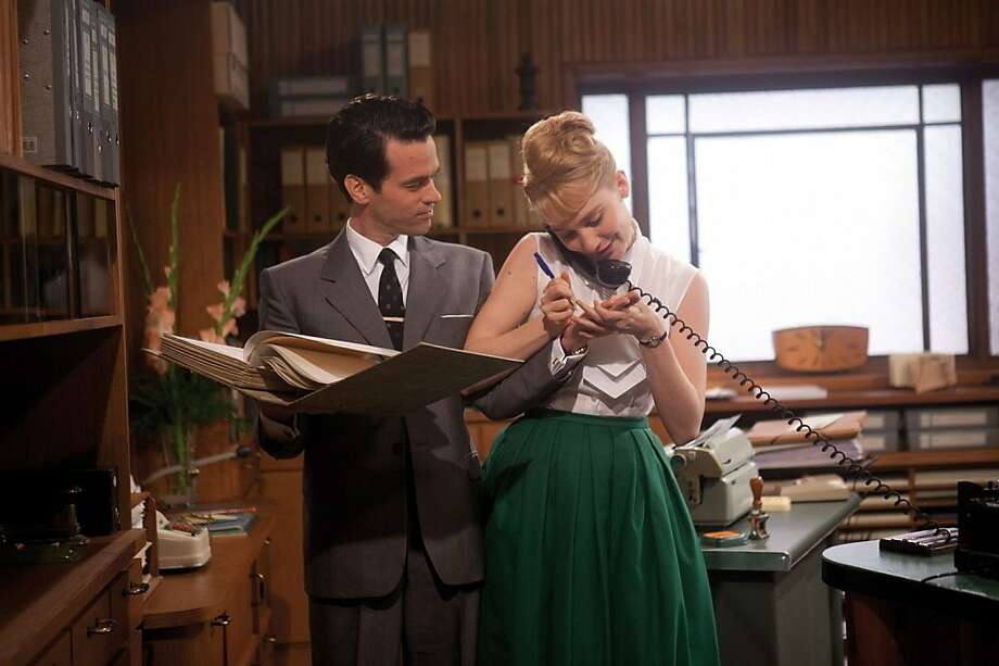 "Romain Duris and Deborah Francois star in ""Populaire,"" opening Friday at Bay Area theaters. Photo: Weinstein Co."