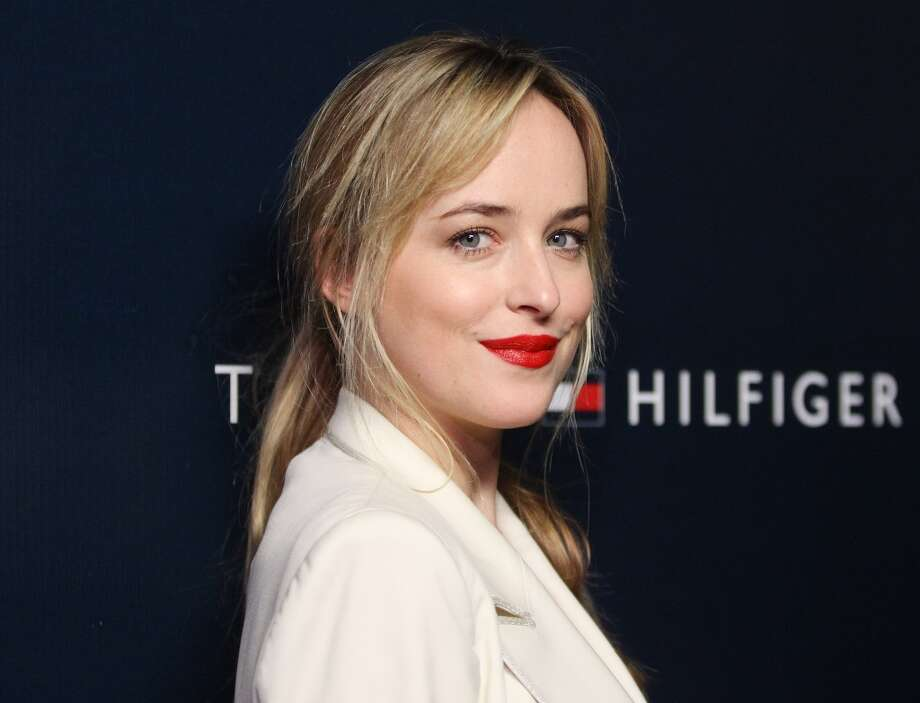 Dakota Johnson arrives at the Tommy Hilfiger West Coast Flagship grand opening event held on February 13, 2013 in West Hollywood, Calif. Photo: Michael Tran, FilmMagic