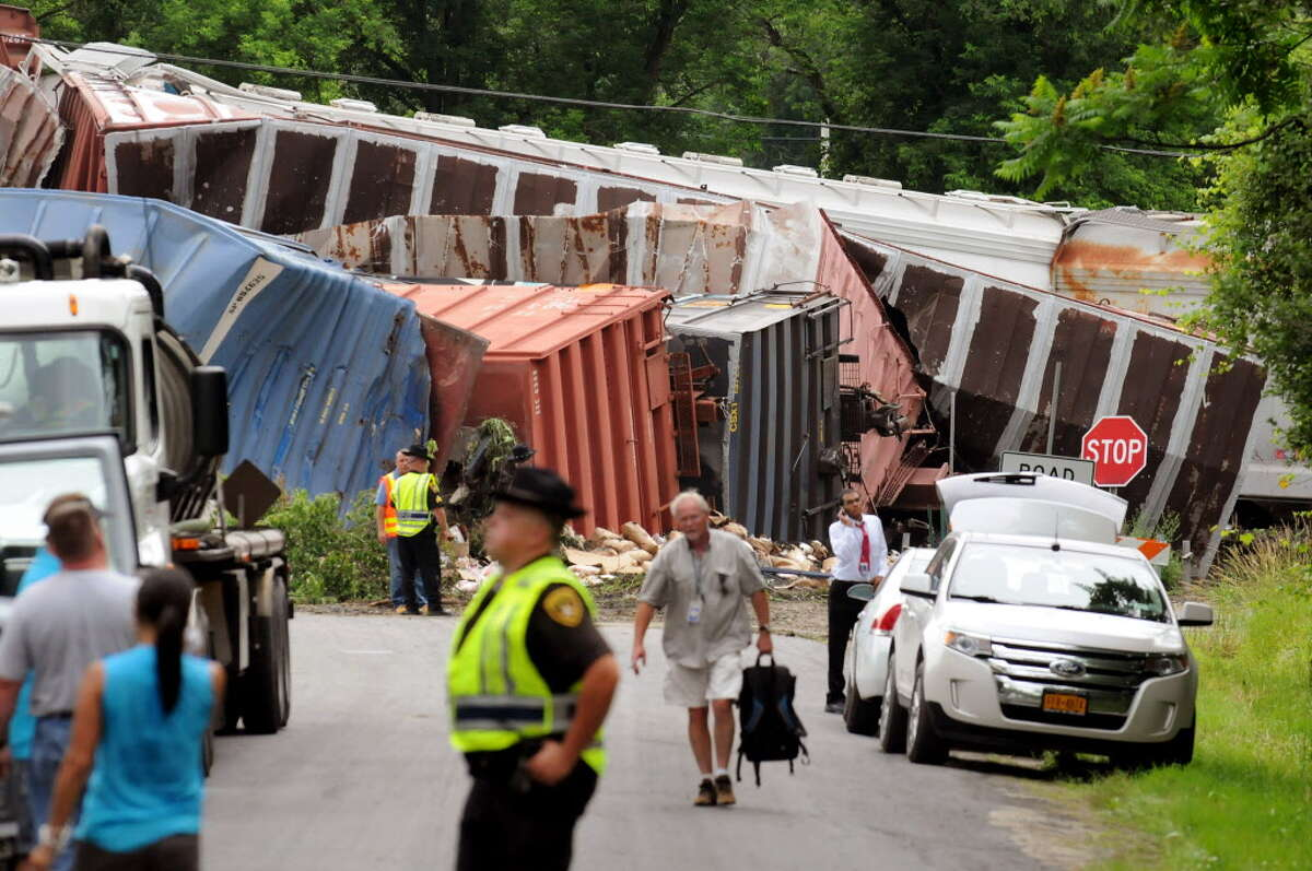 Site of a train derailment on Thursday, June 27, 2013, in Mohawk, N.Y. (Cindy Schultz / Times Union archive)