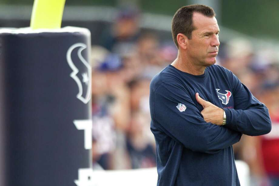 Entering his eighth season as the Texans' coach, Gary Kubiak is six games over .500 at 59-53 and 2-2 in the postseason, but he's trending upward: His teams have gone 22-10 in the last two seasons. Photo: Brett Coomer, Staff / © 2013 Houston Chronicle