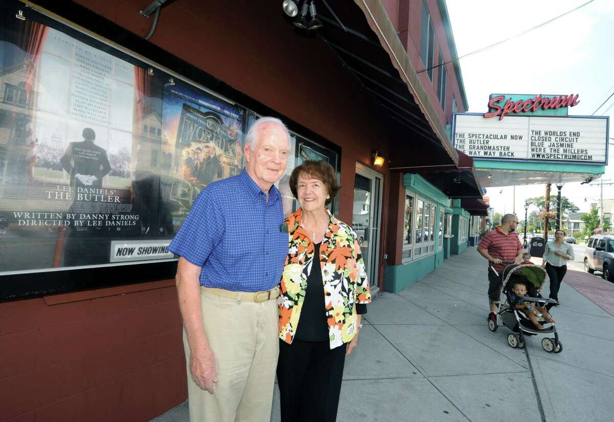 Retired Executive Mansion butler Robert Bennett, butler to six governors, and his wife Noreen, outside Spectrum before watching the movie The Butler on Friday Aug. 30, 2013 in Albany N.Y. (Michael P. Farrell/Times Union)