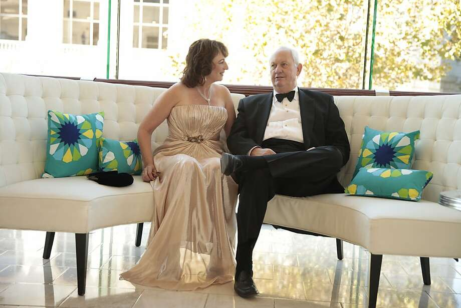 Thea Schwabacher and Rick Pfaff relax before the start of the 102nd San Francisco Symphony Gala in San Francisco Calif. on Tuesday, Sept. 3, 2013. Photo: Alex Washburn