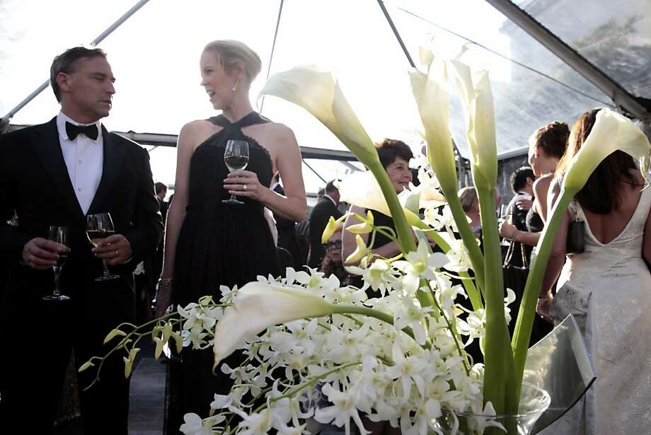 Flowers decorate the outside tents during cocktail hour at the 102nd San Francisco Symphony Gala in San Francisco Calif. on Tuesday, Sept. 3, 2013. Photo: Alex Washburn