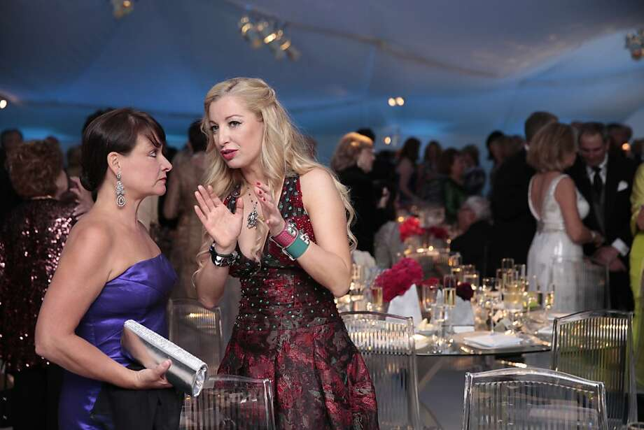 Sonya Molodetskaya (right) and Barbara Klein (left) talk just before the dinner hour of the 102nd San Francisco Symphony Gala in San Francisco Calif. on Tuesday, Sept. 3, 2013. Photo: Alex Washburn