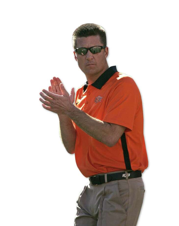 Mike Gundy became a YouTube hit in 2007 while defending one of his players after a critical newspaper column. He credits the video with helping the program find success. Photo: Brett Deering / Getty Images