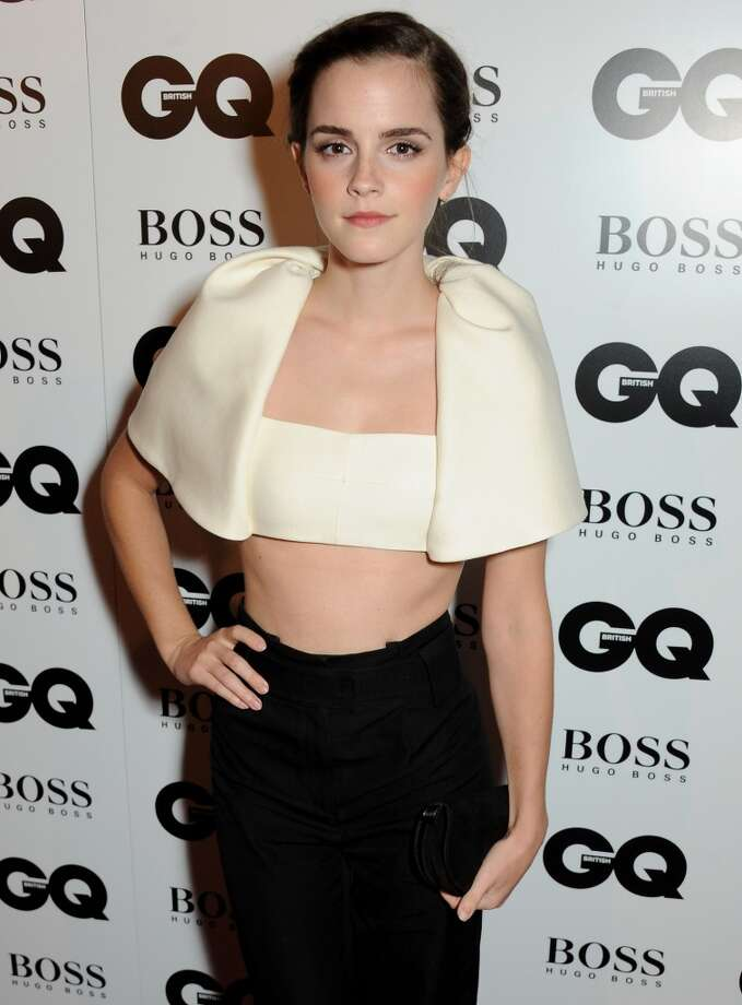 Emma Watson arrives at the GQ Men of the Year awards at The Royal Opera House on September 3, 2013 in London, England.  (Photo by David M. Benett/Getty Images) Photo: David M. Benett, Getty Images