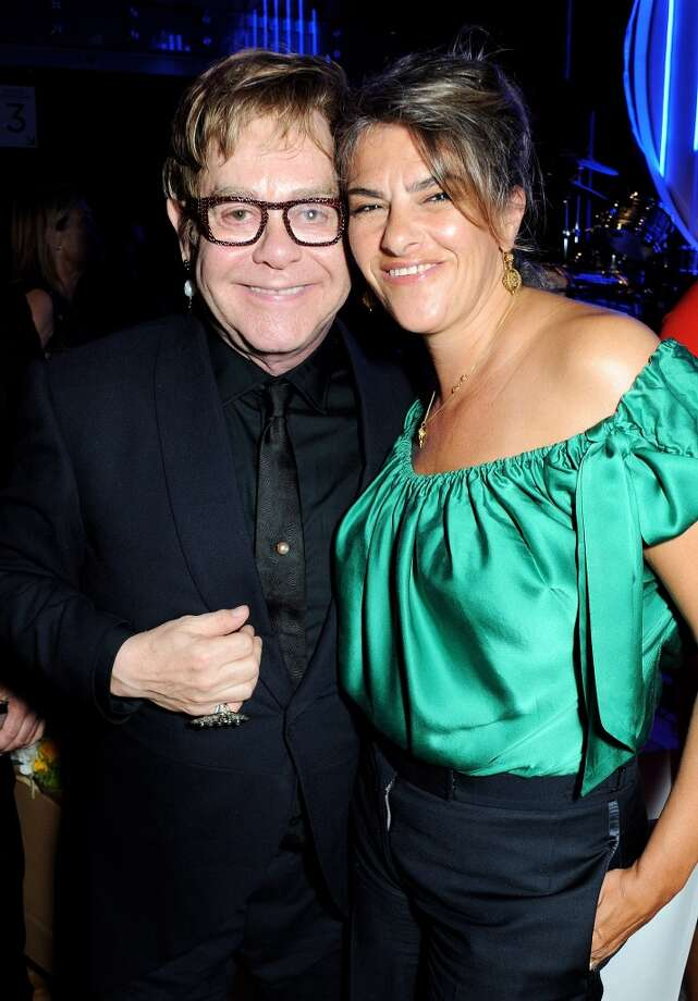 Sir Elton John (L) and Tracey Emin attend an after party following the GQ Men of the Year awards at The Royal Opera House on September 3, 2013 in London, England.  (Photo by David M. Benett/Getty Images) Photo: David M. Benett, Getty Images