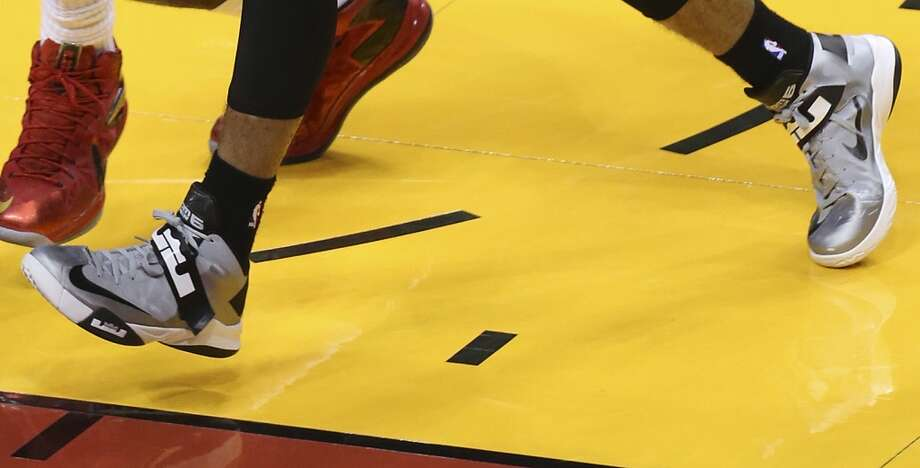 These size 13 kicks are being worked by ... Photo: Jerry Lara, San Antonio Express-News