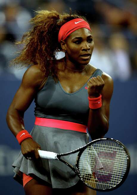 Serena Williams (above) put a damper on the 25th birthday of 18th-seeded Carla Suarez Navarro with a 6-0, 6-0 victory. Photo: Matthew Stockman / Getty Images