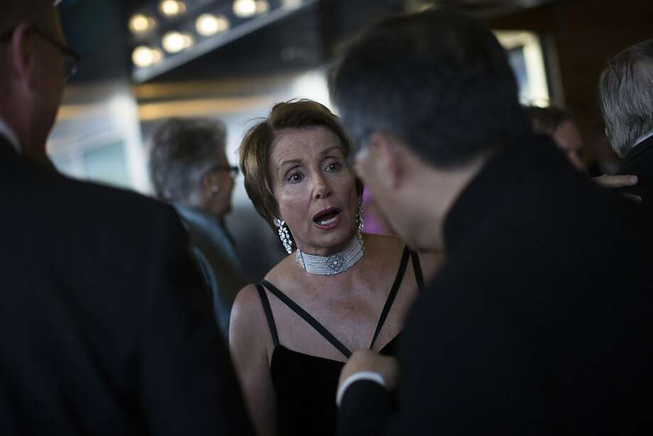 U.S. House minority leader Nancy Pelosi is pictured at the 102nd Symphony gala opening night at Davies Symphony Hall in San Francisco, Calif. on Tuesday, Sept. 3, 2013. Photo: Stephen Lam, Special To The Chronicle