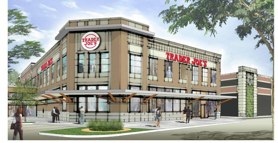 This Trader Joe's grocery store, shown in a preliminary rendering, is planned for Cinco Ranch in the Katy area sometime next year.