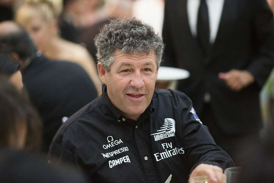 Emirates Team New Zealand Principal Structural Engineer Giovanni Belgrano smiles at dinner during the 102nd Symphony gala opening night at Davies Symphony Hall in San Francisco, Calif. on Tuesday, Sept. 3, 2013. Photo: Stephen Lam, Special To The Chronicle