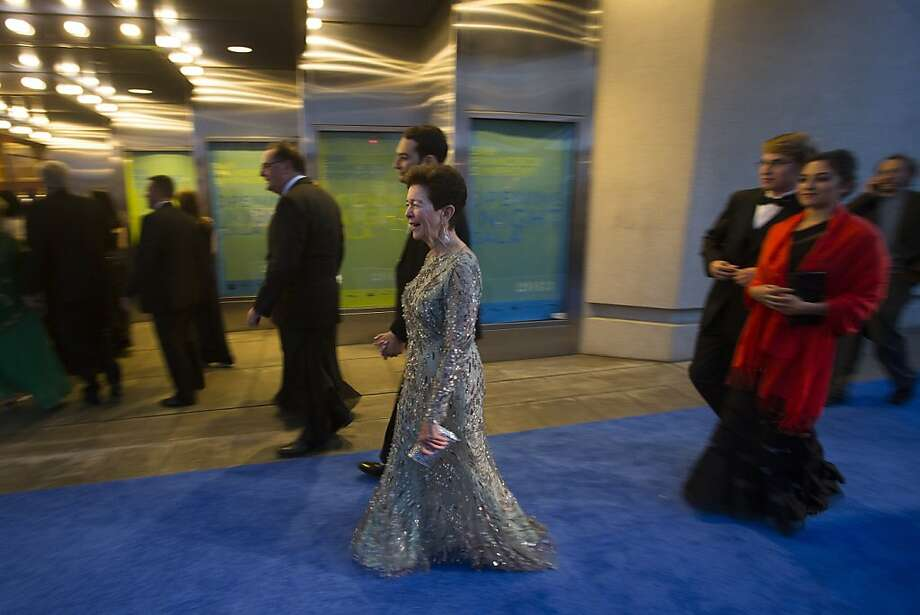 "Roselyne ""Cissie"" Swig walks to Davies Symphony Hall  during the 102nd Symphony gala opening night in San Francisco, Calif. on Tuesday, Sept. 3, 2013. Photo: Stephen Lam"