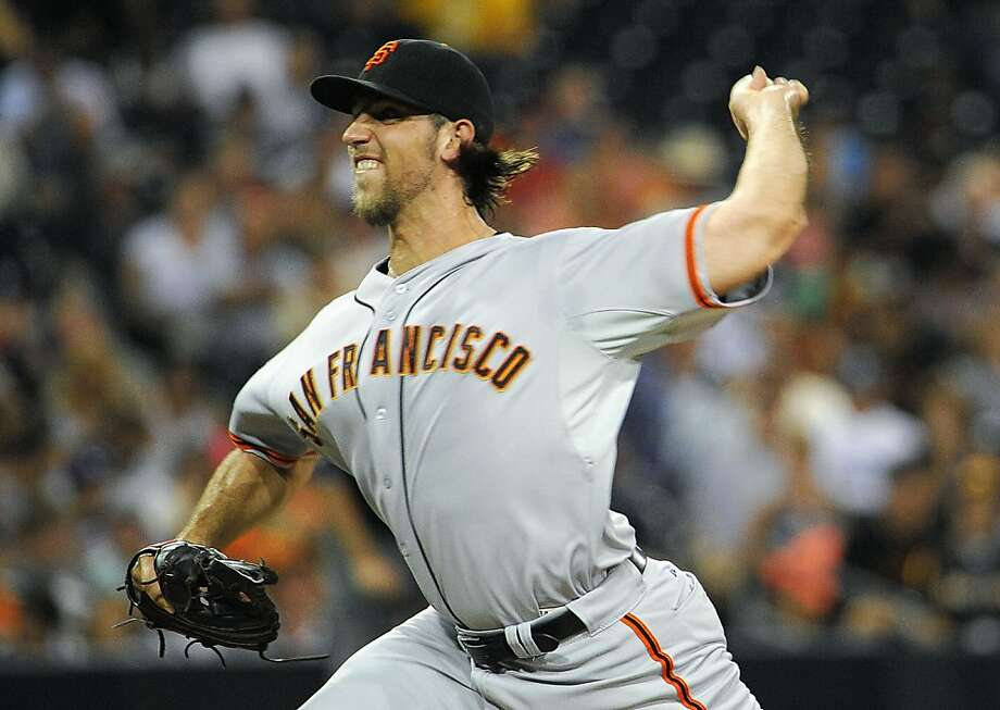Madison Bumgarner has one victory in nine starts since the All-Star break; the Giants scored just 20 runs in those games. Photo: Denis Poroy, Getty Images