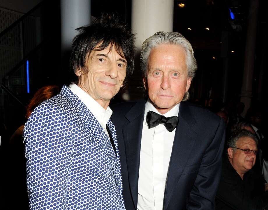 Ronnie Wood (L) and Michael Douglas attend the GQ Men of the Year awards at The Royal Opera House on September 3, 2013 in London, England.  (Photo by David M. Benett/Getty Images) Photo: David M. Benett, Getty Images