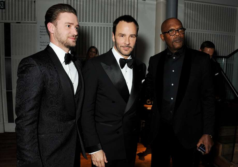 (L to R) Justin Timberlake, Tom Ford and Samuel L. Jackson attend the GQ Men of the Year awards at The Royal Opera House on September 3, 2013 in London, England.  (Photo by David M. Benett/Getty Images) Photo: David M. Benett, Getty Images