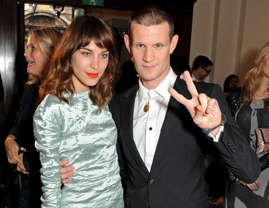 Alexa Chung (L) and Matt Smith arrive at the GQ Men of the Year awards at The Royal Opera House on September 3, 2013 in London, England.  (Photo by David M. Benett/Getty Images) Photo: David M. Benett, Getty Images