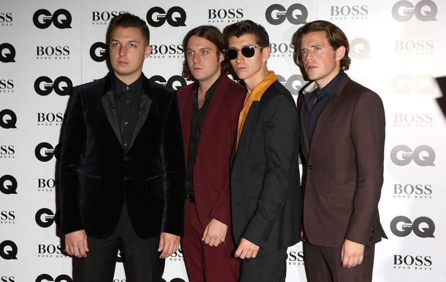 Matt Helders, Nick O'Malley, Alex Turner and Jamie Cook of The Arctic Monkeys attends the GQ Men of the Year awards at The Royal Opera House on September 3, 2013 in London, England.  (Photo by Tim P. Whitby/Getty Images) Photo: Tim P. Whitby, Getty Images