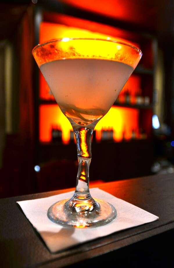 The exotic Tom Yum Martini at Chaba Thai Cuisine on Phelan. Beth Rankin/cat5 Photo: Beth Rankin/cat5