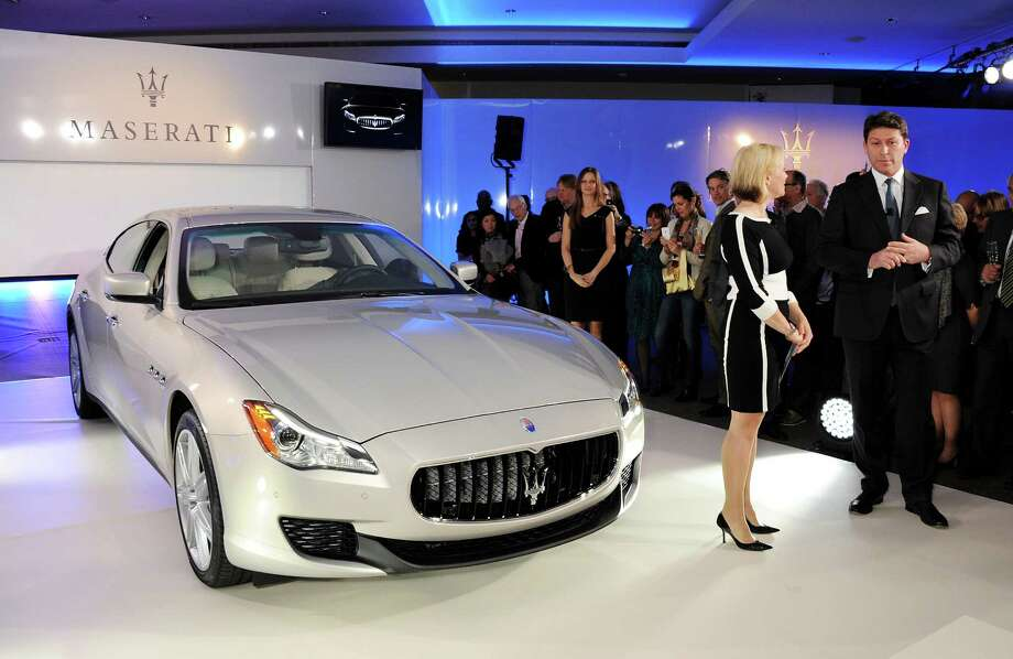 The Quattroporte sedan is longer and lighter than before, but still has Maserati's distinctive oval grille and elegant, minimalist styling. For the first time, the sedan is offered with four-wheel drive. Pricing will be released later this fall when the car goes on sale. Photo: Dave M. Benett, Getty Images For Maserati / 2013 Dave M. Benett
