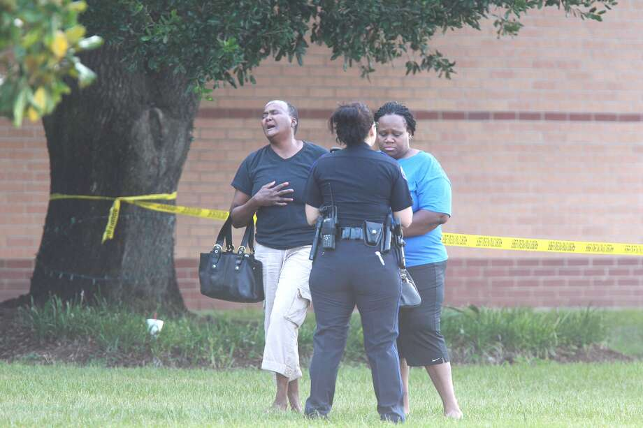 Police respond to a stabbing incident at Spring High School on Wed., Sept. 4. Photo: Mayra Beltran, Chronicle