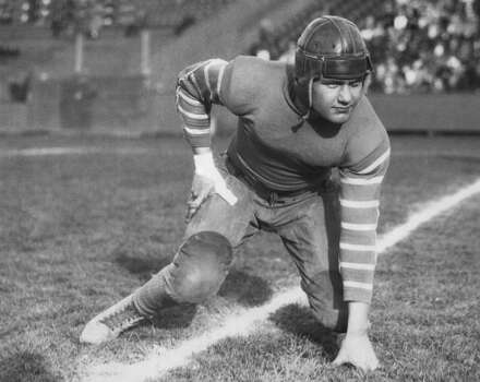 Captain Emmett Whitehead, fullback on the Texas A&M Commerce football team, Commerce, Texas, 1933. (Photo by Underwood Archives/Getty Images) Photo: Underwood Archives, Getty Images / Archive Photos