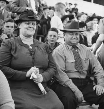 Circa 1940s - Parents of a Univ. of Texas football player attending a game.  (Photo by George Strock//Time Life Pictures/Getty Images) Photo: George Strock, Time & Life Pictures/Getty Image / Time Life Pictures