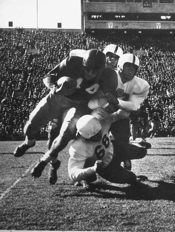 Circa 1950: University of Texas football game.  (Photo by Joseph Scherschel/Time & Life Pictures/Getty Images) Photo: Joseph Scherschel., Time & Life Pictures/Getty Image / Time & Life Pictures