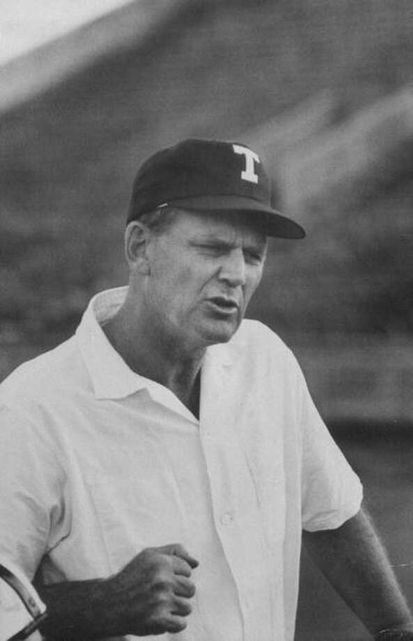 Circa 1950s - Coach Paul Bryant during a pre-season practice of the Texas A & M football team.  (Photo by Joseph Scherschel//Time Life Pictures/Getty Images) Photo: Joseph Scherschel, Time & Life Pictures/Getty Image / Time Life Pictures